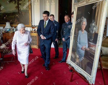 New portrait of Queen Elizabeth II, Windsor Castle