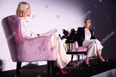 Pandora Sykes and Rosamund Pike