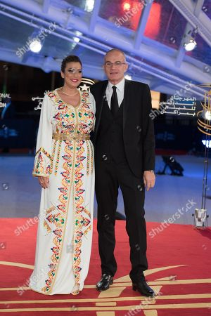 TV host Samia Abbari and Laurent Weil attend the Marrakech International Film Festival, in Marrakech, Morocco, 30 November 2018 The festival runs from 30 November to 08 December.