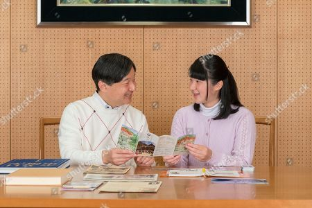Naruhito, Aiko. In this Nov. 25, 2018, photo provided by the Imperial Household Agency of Japan, Japan's Princess Aiko talks with her father Crown Prince Naruhito about her school trip, at Togu Palace in Tokyo. Princess Aiko, daughter of Crown Prince Naruhito and Crown Princess Masako, celebrated 17th birthday on