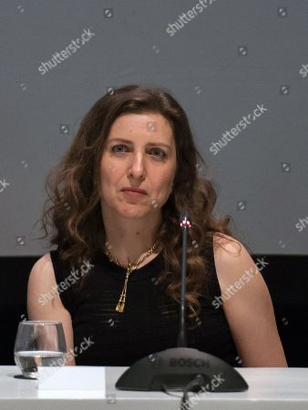 Jury member, Lebanese filmmaker Joana Hadjithomas attends a press conference at the 17th annual Marrakech International Film Festival, in Marrakech, Morocco, 01 December 2018. The festival runs from 30 November to 08 December.