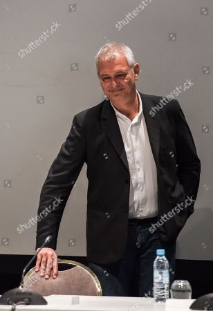 Stock Picture of Jury member, French director Laurent Cantet attends a press conference at the 17th annual Marrakech International Film Festival, in Marrakech, Morocco, 01 December 201. The festival runs from 30 November to 08 December.