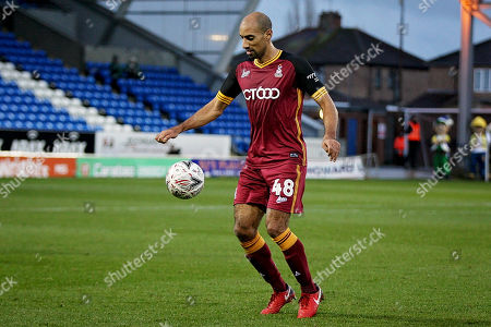 Bradford City forward Karl Henry (48) during  the The FA Cup 2nd round match between Peterborough United and Bradford City at London Road, Peterborough