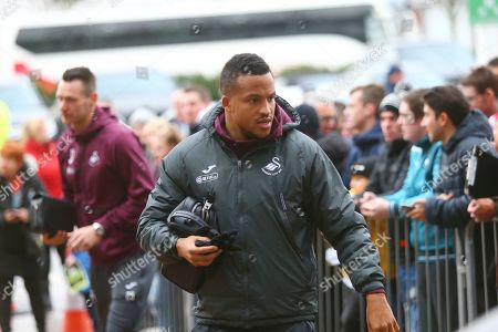 Swansea City defender Martin Olsson (3) arrives at the stadium during the EFL Sky Bet Championship match between Derby County and Swansea City at the Pride Park, Derby
