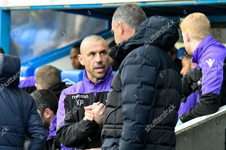 Reading manager Paul Clement shakes hands with Stoke City coach Kevin Phillips before the EFL Sky Bet Championship match between Reading and Stoke City at the Madejski Stadium, Reading
