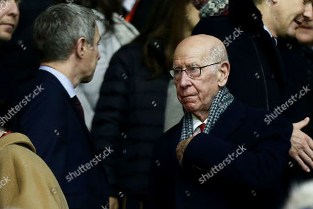 Sir Bobby Charlton seen in the stands.