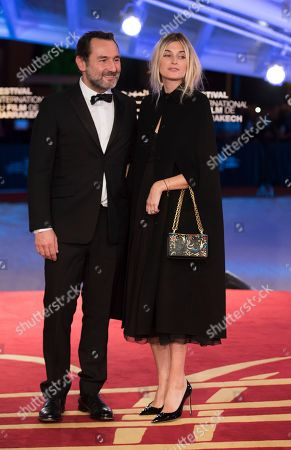 Gilles Lellouche (L) and Alizee Guinochet (R) attends the Tribute To Robert De Niro event at the 17th annual Marrakech International Film Festival, in Marrakech, Morocco, 01 December 2018. The festival runs from 30 November to 08 December.