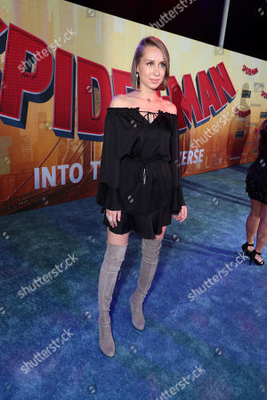 Diana Marks during the Red Carpet Premiere of Columbia Pictures and Sony Pictures Animation's SPIDER-MAN: INTO THE SPIDER-VERSE at Regency Village Theatre.