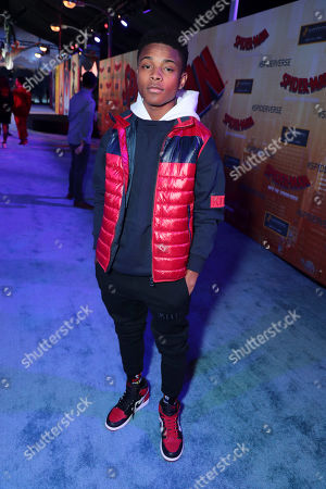 Stock Image of Amarr Wooten during the Red Carpet Premiere of Columbia Pictures and Sony Pictures Animation's SPIDER-MAN: INTO THE SPIDER-VERSE at Regency Village Theatre.