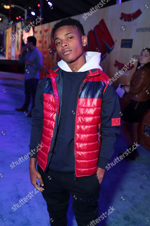 Amarr Wooten during the Red Carpet Premiere of Columbia Pictures and Sony Pictures Animation's SPIDER-MAN: INTO THE SPIDER-VERSE at Regency Village Theatre.