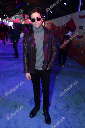 Max Ehrich during the Red Carpet Premiere of Columbia Pictures and Sony Pictures Animation's SPIDER-MAN: INTO THE SPIDER-VERSE at Regency Village Theatre.