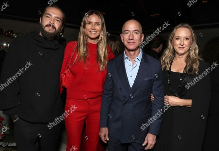 Tom Kaulitz, Heidi Klum, Amazon CEO Jeff Bezos and Head of Amazon Studios Jennifer Salke