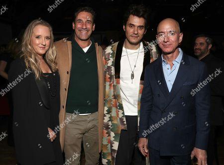 Head of Amazon Studios Jennifer Salke, Jon Hamm, John Mayer and Amazon CEO Jeff Bezos