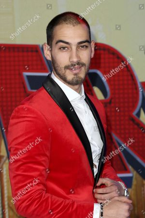 """Michel Duval arrives at the World Premiere of """"Spider-Man: Into the Spider-Verse"""" at the Regency Village Theatre, in Los Angeles"""