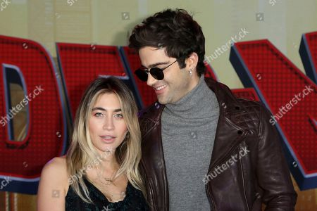 "Lexi Kaplan, Max Ehrich. Lexi Kaplan, left, and Max Ehrich arrive at the World Premiere of ""Spider-Man: Into the Spider-Verse"" at the Regency Village Theatre, in Los Angeles"