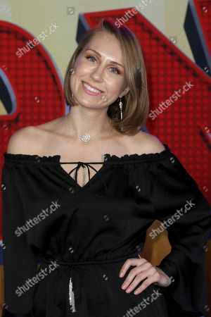 """Diana Marks arrives at the World Premiere of """"Spider-Man: Into the Spider-Verse"""" at the Regency Village Theatre, in Los Angeles"""
