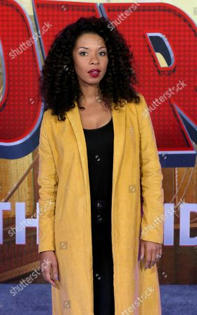 """Angel Parker arrives at the World Premiere of """"Spider-Man: Into the Spider-Verse"""" at the Regency Village Theatre, in Los Angeles"""