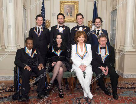 Wayne Shorter, Cher, Reba McEntire, Philip Glass, Thomas Kail, Lin-Manuel Miranda, Andy Blankenbuehler, Alex Lacamoire