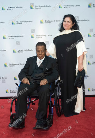 2018 Kennedy Center Honoree jazz saxophonist and composer Wayne Shorter and his wife Carolina dos Santos Shorter