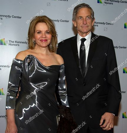 Stock Picture of American opera singer and soprano Renee Fleming (L) and her husband Tim Jessell (R)