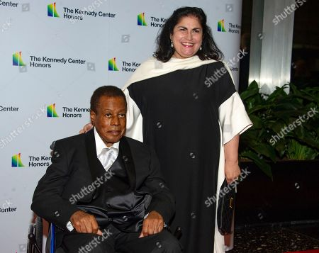 US jazz saxophonist and laureate Wayne Shorter and his wife Carolina dos Santos Shorter