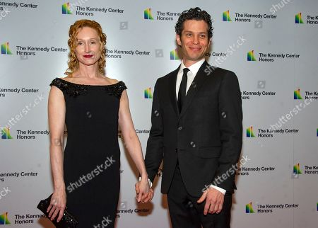 US theatre director Thomas Kail (R) and US Angela Christian (L)