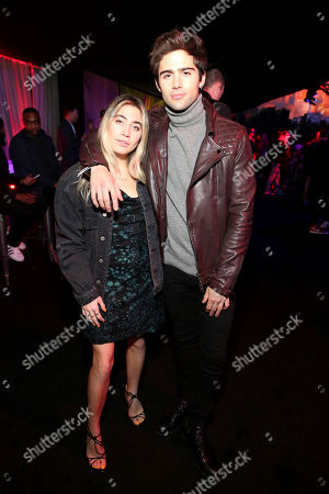 "Lexi Kaplan, Max Ehrich. Lexi Kaplan and Max Ehrich during the After-Party of Columbia Pictures and Sony Pictures Animation's ""Spider-Man: Into the Spider-Verse"" at Regency Village Theatre, in Los Angeles"
