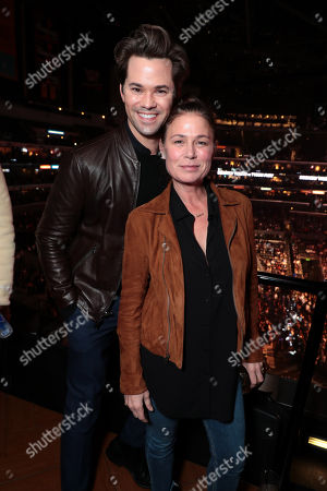 Stock Image of Andrew Rannells, Maura Tierney