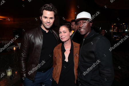 Stock Photo of Andrew Rannells, Maura Tierney, Don Cheadle
