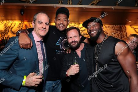 Stock Image of David Nevins, CEO of Showtime Networks, Omar Miller, Judd Lormand and Aldis Hodge