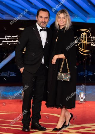 Stock Picture of Gilles Lellouche and Alizee Guinochet