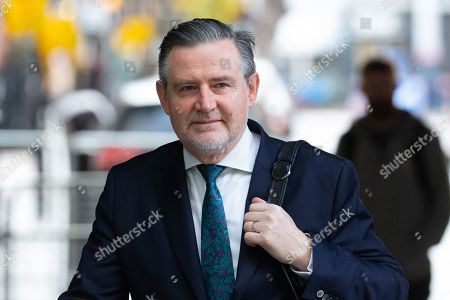 Shadow Secretary of State for International Trade, Barry Gardiner, arrives for 'The Andrew Marr Show' at the BBC Studios.