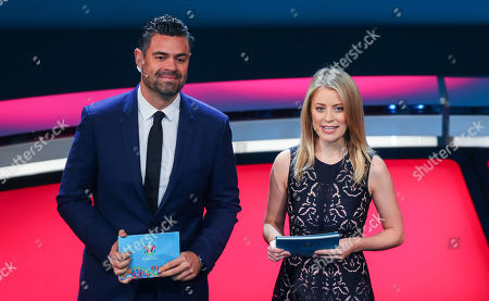 Stock Picture of Presenters Pedro Pinto and Rachel Wyse