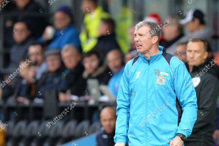 Stockport County manager Jim Gannon during Barnet vs Stockport County, Emirates FA Cup Football at the Hive Stadium on 2nd December 2018