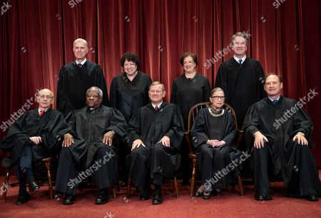 Stephen Breyer, Clarence Thomas, John G. Roberts, Ruth Bader Ginsburg, Samuel Alito Jr., Neil Gorsuch, Sonia Sotomayor, Elena Kagan, Brett M. Kavanaugh. The justices of the U.S. Supreme Court gather for a formal group portrait to include the new Associate Justice, top row, far right, at the Supreme Court Building in Washington, . Seated from left: Associate Justice Stephen Breyer, Associate Justice Clarence Thomas, Chief Justice of the United States John G. Roberts, Associate Justice Ruth Bader Ginsburg and Associate Justice Samuel Alito Jr. Standing behind from left: Associate Justice Neil Gorsuch, Associate Justice Sonia Sotomayor, Associate Justice Elena Kagan and Associate Justice Brett M. Kavanaugh. Some justices have a sort of verbal signature, phrases they employ to disagree _ more or less politely _ with a lawyer arguing in front of them