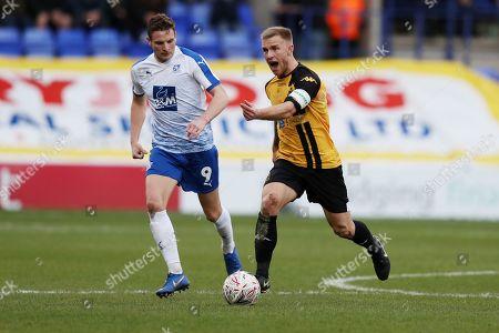 Paul Mullin of Tranmere Rovers and David Morgan of Southport
