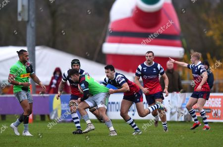 Leonardo Sarto of Bristol Bears United in action against Harlequins XV