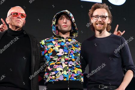 Peter Weller, Ezra Miller and Tom Hiddleston