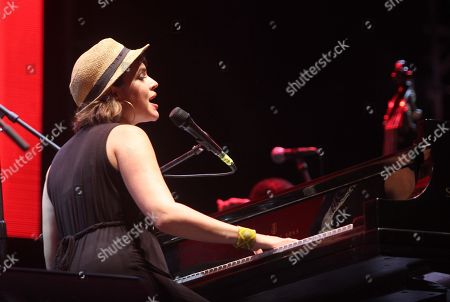 US singer-songwriter and pianist Norah Jones performs at the Riviera Maya Jazz Festival, in Playa del Carmen, Quintana Roo, Mexico, 02 December 2018. The free event is held on the beach from 29 November to 02 December, which has established itself as one of the ten best in the world celebrating its 16th edition.