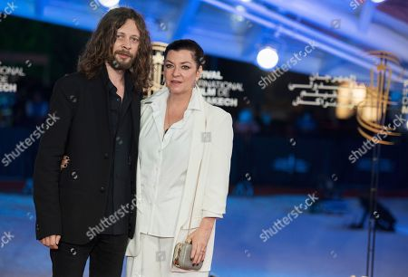 Lynne Ramsay (R) and her guest attend the 'Tribute To Agnes Varda' during the 17th annual Marrakech International Film Festival, in Marrakech, Morocco, 02 December 2018. The festival runs from 30 November to 08 December.