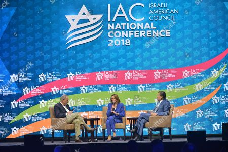 Senate Democratic Leader Chuck Schumer (D-NY), House Democratic Leader Nancy Pelosi (D-CA) and Haim Saban
