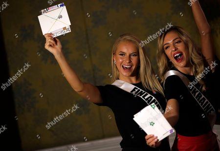 Miss Universe contestants Bangkok Stock Photos (Exclusive
