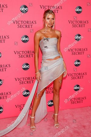Stock Image of Josie Canseco attends the Victoria's Secret 2018 Fashion Show viewing party at Spring Studios, in New York