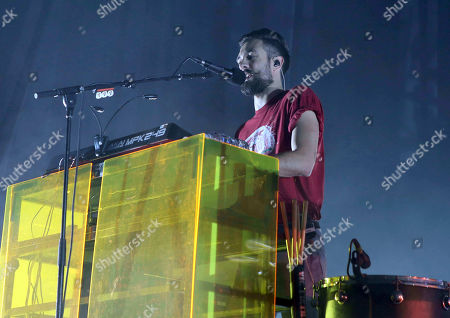 Kyle Simmons with Bastille performs during the ALT 105.7 Holiday Spectacular at the Coca-Cola Roxy, in Atlanta