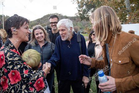 Alanis Morissette, Dick Van Dyke, Taylor Hawkins. Alanis Morissette, from left, Dick Van Dyke and Taylor Hawkins seen at One Love Malibu at King Gillette Ranch, in Calabasas, Calif