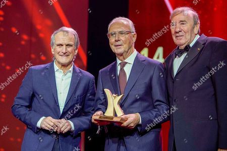 Wolfgang Overath, Franz Beckenbauer, Frank Fleschenberg