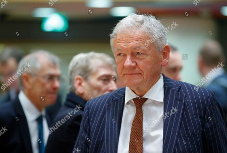 Belgium Transport Minister Francois Bellot during a European Transport, Telecommunications and Energy (TTE) Council, in Brussels, Belgium, 03 December 2018. One of the main topic at the council will be debating on the Commission proposal to end seasonal time changes.