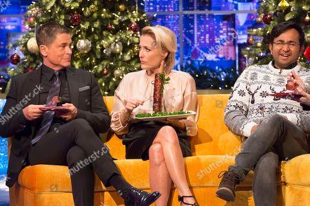 Rob Lowe, Gillian Anderson, Rahul Mandal
