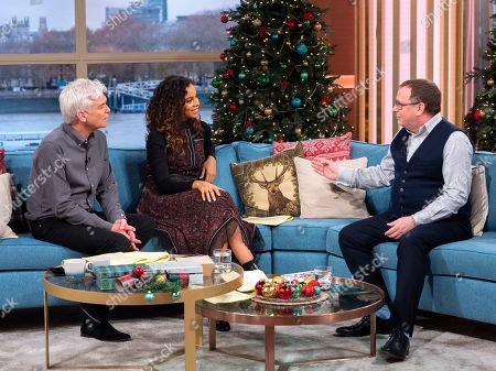 Phillip Schofield and Rochelle Humes with Adam Woodyatt