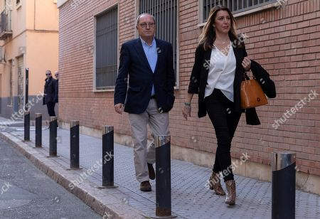 Acting Andalusian regional President Susana Diaz (R), candidate for re-election of Spanish Socialist Party PSOE-A and party's Organization Secretary Juan Cornejo arrive in the party's headquarters in Seville, Andalusia, southern Spain, 03 December 2018. Diaz won the election but it did not gain the absolute majority. It is possible that Diaz does not get enough support to be re-elected as regional President, which might mean that, for first time, a Socialist Party's candidate won't run the region since the first regional election was held in Andalusia in 1982.